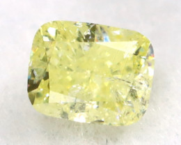Yellow Diamond 0.22Ct Untreated Genuine Fancy Diamond B0306