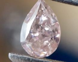 GIA Certified Pear 0.50 Carat Natural Fancy Orange Pink Loose Diamond