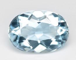 1.81 Cts Un Heated  Sky Blue Color Natural Aquamarine Loose Gemstone