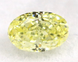 Yellow Diamond 0.11Ct Natural Fancy Diamond B0314