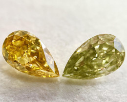 GIA Certified Pear 2.19 Carat Natural Fancy Intense Orange Yellow Diamond a