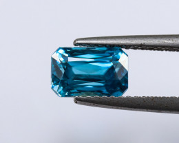 2.93ct Lab Certified Blue Cambodian Zircon
