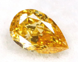Yellowish Orange Diamond 0.13Ct Untreated Genuine Fancy Diamond C0309