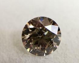 GIA Certified Round 1.21 Carat Natural Fancy Light Pink Brown Loose Diamond