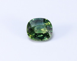 2.07ct Lab Certified Natrual Bluish-Green Sapphire