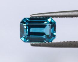 3.70ct Lab Certified Blue Cambodian Zircon