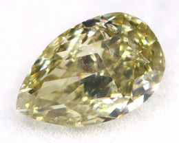 Greenish Yellow Diamond 0.26Ct Untreated Genuine Fancy Diamond AT0003