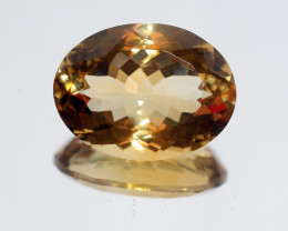 25.6Ct  Top Color Citrine Faceted Oval 23.5x17.5mm.-(SKU342)