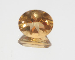 4.3Ct  Top Color Citrine Faceted Oval 12x9.7mm.-(SKU343)