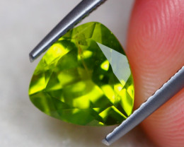 2.92ct Natural Green Peridot Trillion Cut Lot V7436