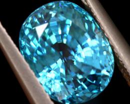 5.38 cts CERTIFIED BLUE ZIRCON CAMBODIA TBM-437