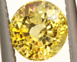 2.13 CTS CERTIFIED YELLOW SRILANKA SAPPHIRE UNTREATED   TBM-451