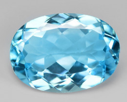 6.73 Carat Swiss Blue Natural Topaz Gemstone