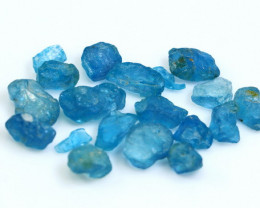 49.00 CT Natural - Unheated Blue Apatite Rough Lot