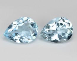 2.81 cts 2 pcs Un Heated  Sky Blue Color Natural Aquamarine Loose Gemstone
