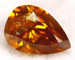 Yellowish Orange Diamond 0.20Ct Untreated Genuine Fancy Diamond C0402