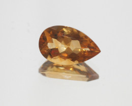 3.75Ct  Top Color Citrine Faceted Drop 14x8.6mm.-(SKU349)