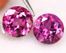 Purple Umbalite 3.22Ct VVS Round Cut Natural Purple Umbalite Garnet C0405