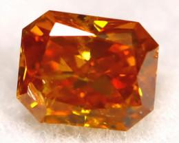 Intense Orange Diamond 0.24Ct Natural Fancy Diamond C0406