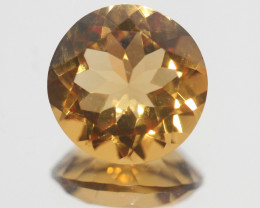 9.7Ct  Top Color Citrine Faceted Round 14.5mm.-(SKU351)