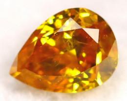 Yellowish Orange Diamond 0.19Ct Natural Fancy Diamond C0409