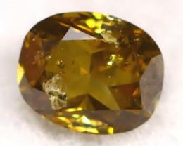 Yellowish Green Diamond 0.12Ct Natural Fancy Diamond C0410