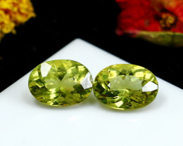 12.75 CT Natural - Unheated Green Apatite Gemstone Pair