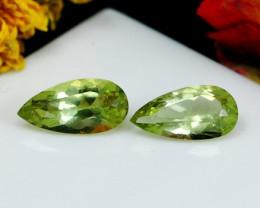 3.45 CT Natural - Unheated Green Apatite Gemstone Pair