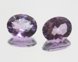 4.75 Ct Amethyst Pair Faceted Oval 10x8mm.-(SKU 384)