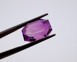 11.14 CT FREE SHIPPING! Custom Fancy Cut Purple Amethyst (Uruguay)