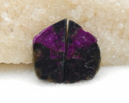 32.5cts Natural Purple Jasper earrings ,Triangle earrings ,Designer Making
