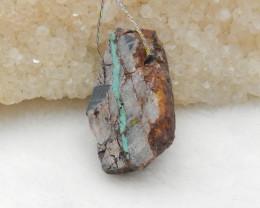 38cts Turquoise Pendant ,Natural Gemstone ,Turquoise Nugget Pendant G828
