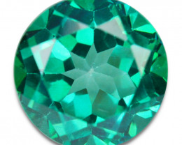~GLITTERING~ 2.71 Cts Vivid Green Natural Topaz Round Cut Brazil