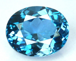 ~AWESOME~ 4.77 Cts Natural London Blue Topaz Oval Cut Brazil