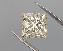 1.52 cts , Light Yellow Princess Diamond , Huge Diamond , Diamond For Ring