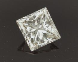 0.97 CTS , Light Brown Natural Diamond , Princess Cut Diamond