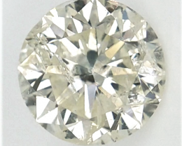 1.53 cts , Solitaire Diamond , Off White Diamond