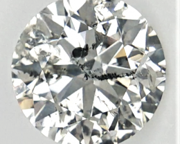 1.53 Cts, Huge Salt And Pepper Diamond , Loose Natural Diamond
