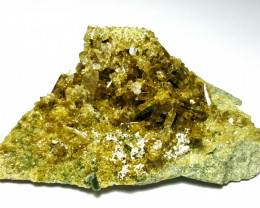 Amazing Natural color Damage free Epidote cluster combine with Diposite 225