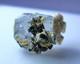 34.65 CT Natural - Unheated Blue Aquamarine Crystal  Specimen