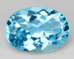 7.04 Carat Swiss Blue Natural Topaz Gemstone