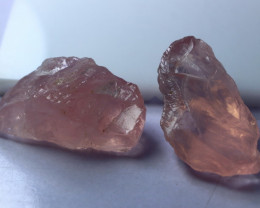 123.70 CT Natural - Unheated  Pink Rose Quartz Rough Lot