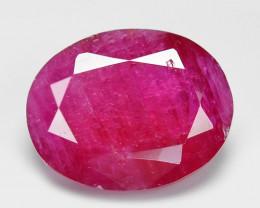 2.49 Cts Pinkish Red Natural Ruby BURMA  Loose Gemstone