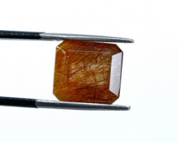 9.55 CT Natural - Unheated Rutilated Quartz Gemstone
