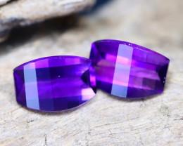 Uruguay Amethyst 2.14Ct VVS Pixalated Cut Natural Violet Amethyst B0503