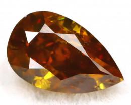 Brownish Orange Diamond 0.24Ct Untreated Genuine Fancy Diamond B0504