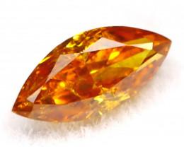 Intense Orange Diamond 0.14Ct Untreated Genuine Fancy Diamond B0506
