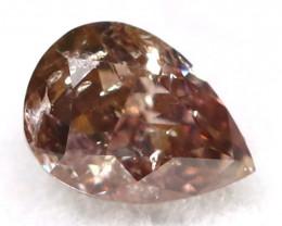 Brownish Purple Diamond 0.15Ct Untreated Genuine Fancy Diamond B0511