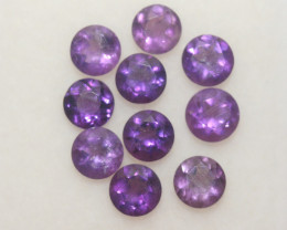 2.4 Ct Amethyst Lot Faceted Round 4mm.-(10Pcs).-(SKU 394)