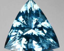~STUNNING~ 7.96 Cts Santa maria Blue Natural Aquamarine Trillion Brazil